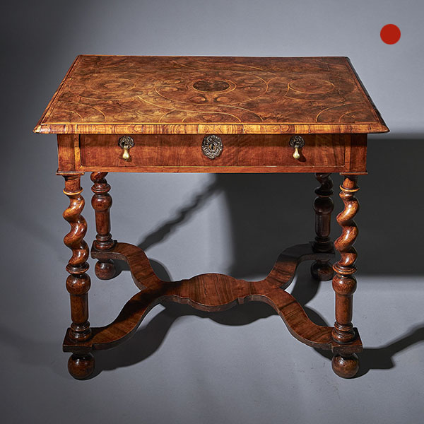 """William and Mary Olive Oyster 31"""" Table"""