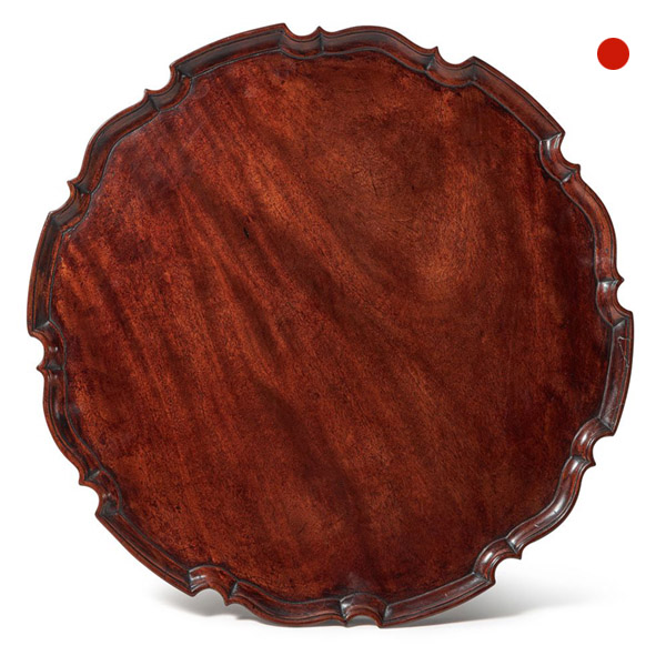 George III Chippendale Period Mahogany Pie Crust Tray