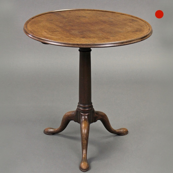 George III Mahogany Gun Barrel Tray Top Tripod Table Sofa Table Chippendale Period