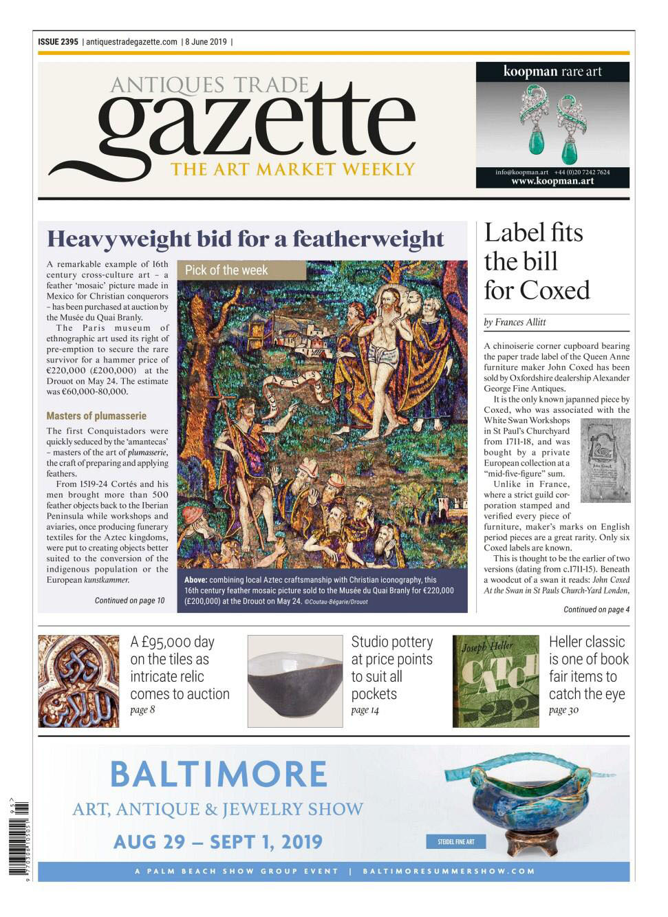 ALEXANDER GEORGE FINE ANTIQUES IN THE PRESS 1