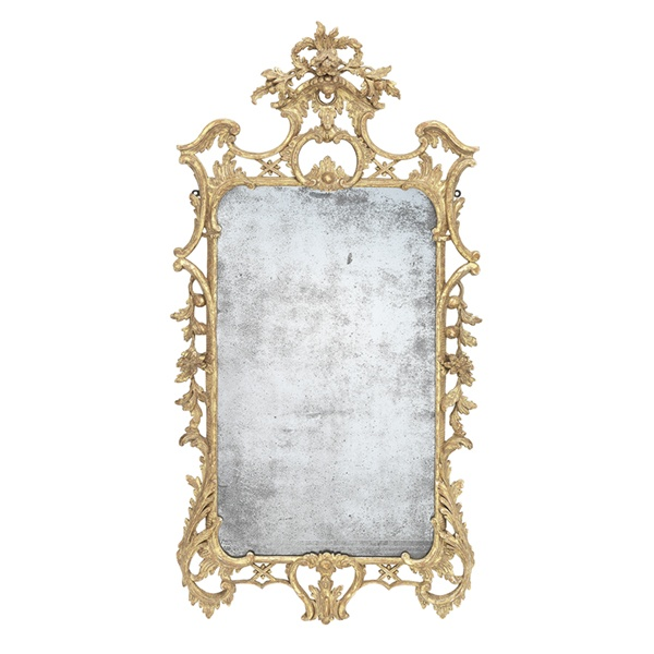 A George III Giltwood Mirror in the Manner of Thomas Johnson