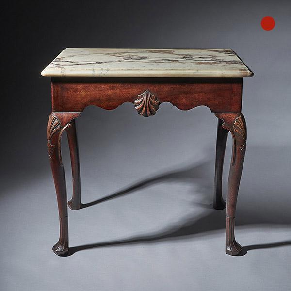 "A Delightful Mid 18th Century Irish Mahogany Console Table of Small Proportions (29"")  Circa 1750-1760."