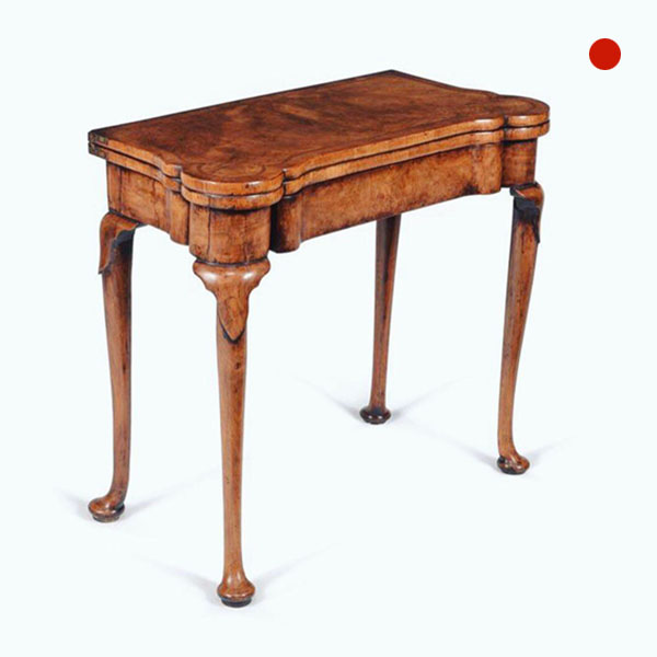 Fine 18th Century Queen Anne Burr and Highly Figured Walnut Card Table