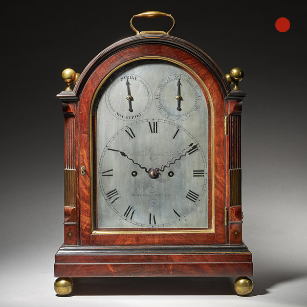 Fine George III Eight-Day Striking Mahogany Bracket Clock with Trip Repeat