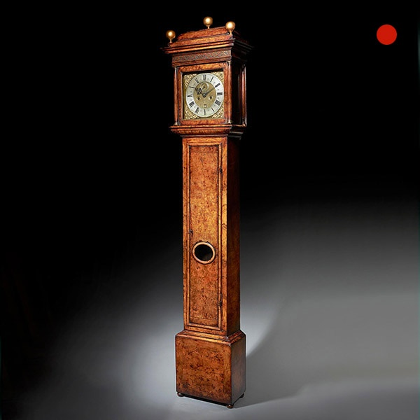 17th Century William and Mary Eight Day Burr Walnut Longcase Clock, John Martin