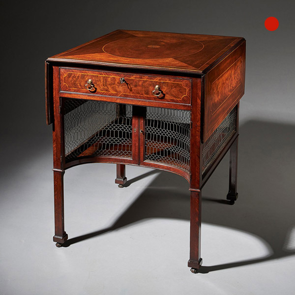 An extremely fine and rare early George III mahogany supper table plausibly by Thomas Chippendale