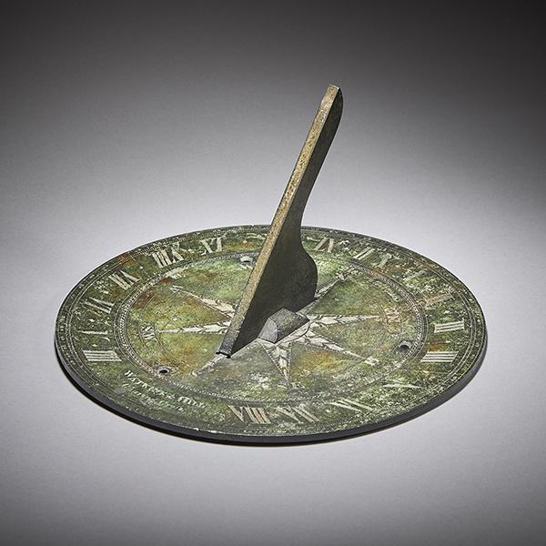 Rare 19th Century Bronze Horizontal Sundial by Watkins & Hill London