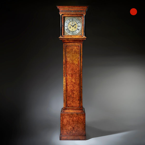 A Fine 18th-century Queen Anne Burr Walnut Eight-Day Longcase Clock